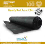 OPPOTEX 100 WOVEN GEOTEXTILE - Roll Size 2.0m x 25m (95GSM)